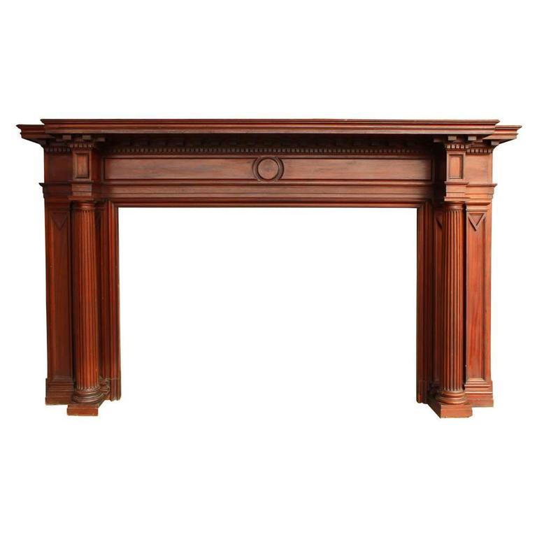 Neoclassical Mahogany Mantel