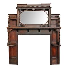 Victorian Stick and Ball Mantel