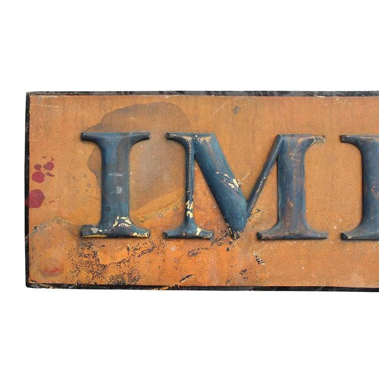 Carved Imperial Tea Co. Sign For Sale