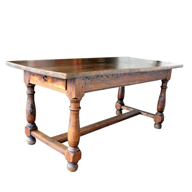 Vintage French Farm Table For Sale