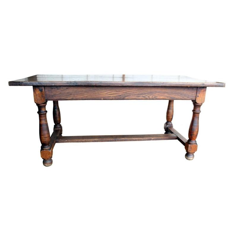 Vintage French Farm Table In Good Condition For Sale In Aurora, OR