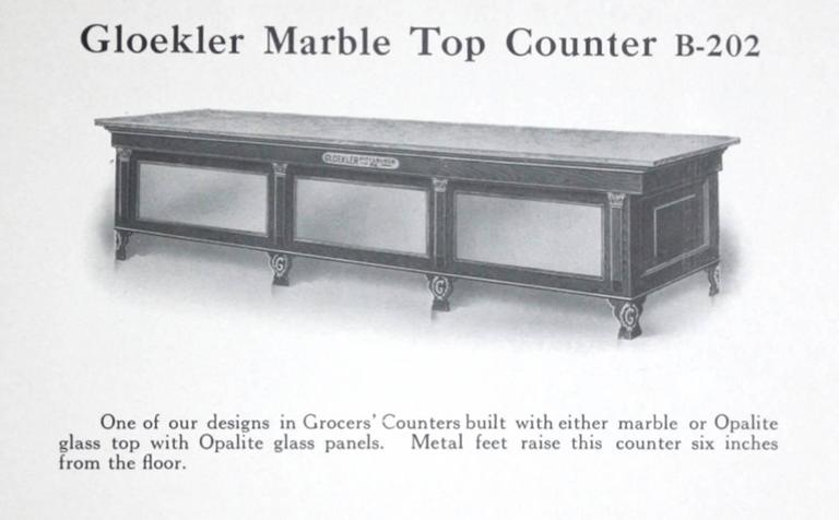 Early 20th Century Marble-Topped Butcher Case 8