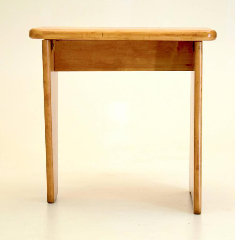 Modest Maple Stool In The Style Of Isamu Noguchi And