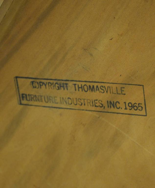 Walnut and Fruitwood Table by Thomasville, 1965 For Sale 3