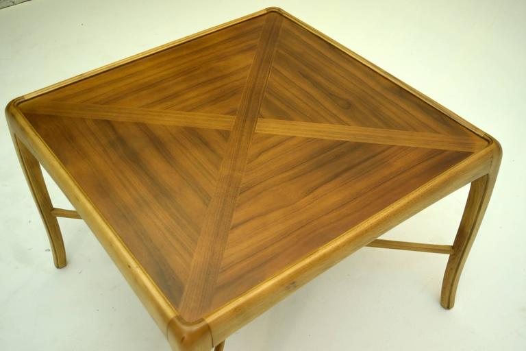 Mid-Century Modern Walnut and Fruitwood Table by Thomasville, 1965 For Sale