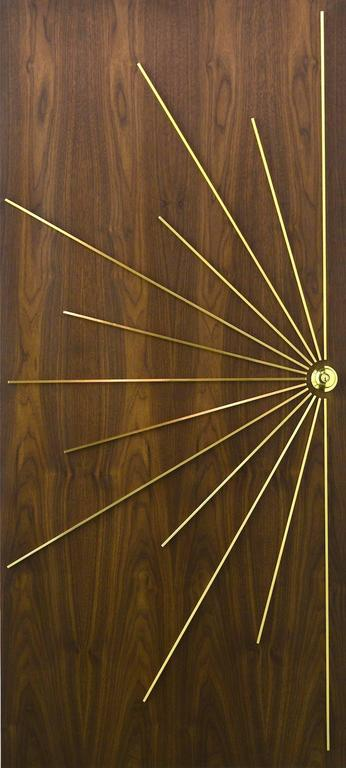 Brass Ray Double Entry Door built to customer specifications For Sale