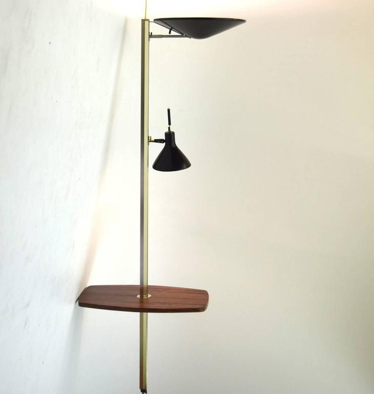 Mid Century Modern Lightolier Lytespan Table Floor To Ceiling Lamp For Sale
