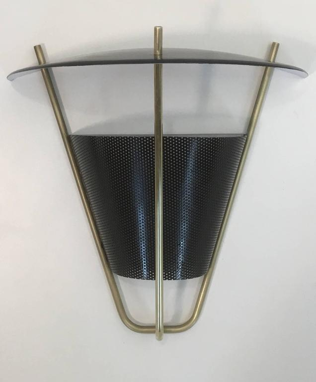 Mid-Century Modern Interior and Exterior Sconce Lamp Pair by Lightolier For Sale