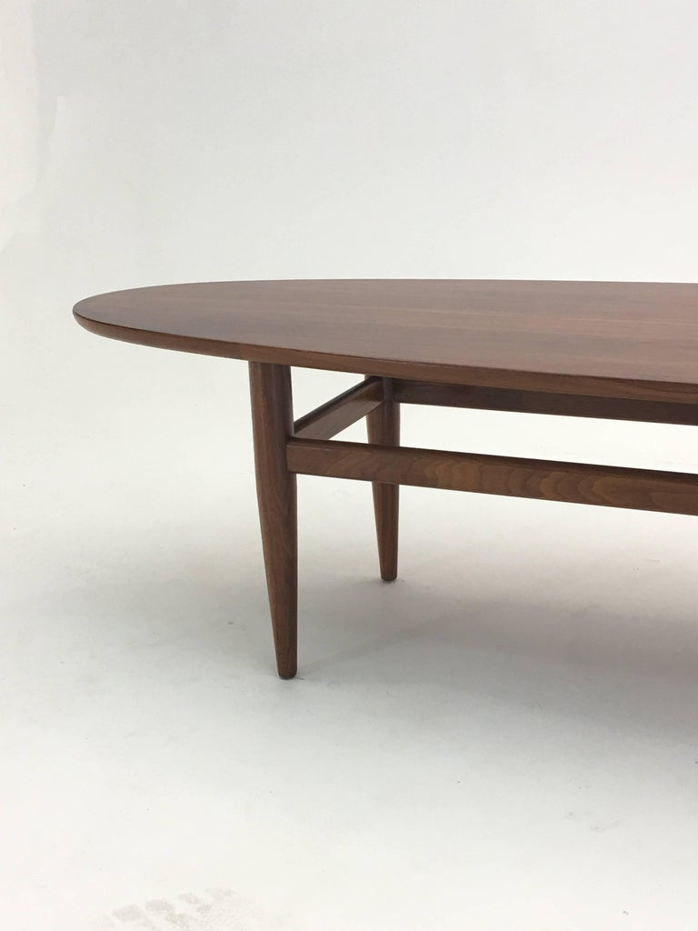 Vintage Surfboard Cocktail Table By Henredon In Walnut At 1stdibs