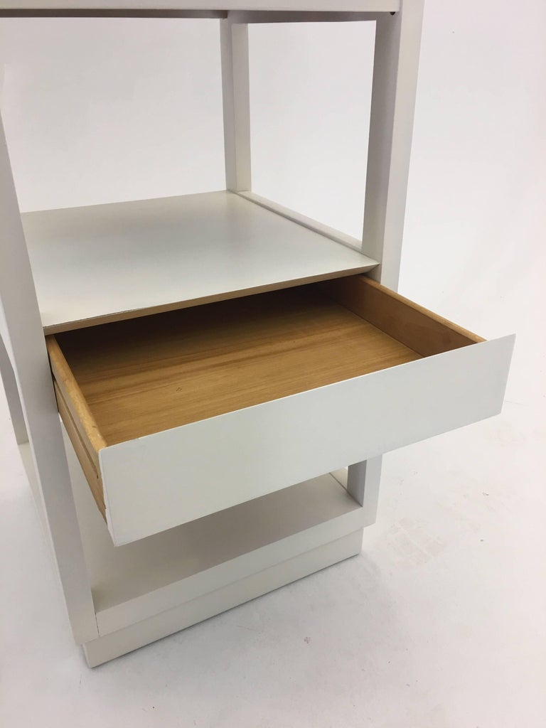Multipurpose stand by edward wormley with concealed drawer for Multipurpose furniture for sale