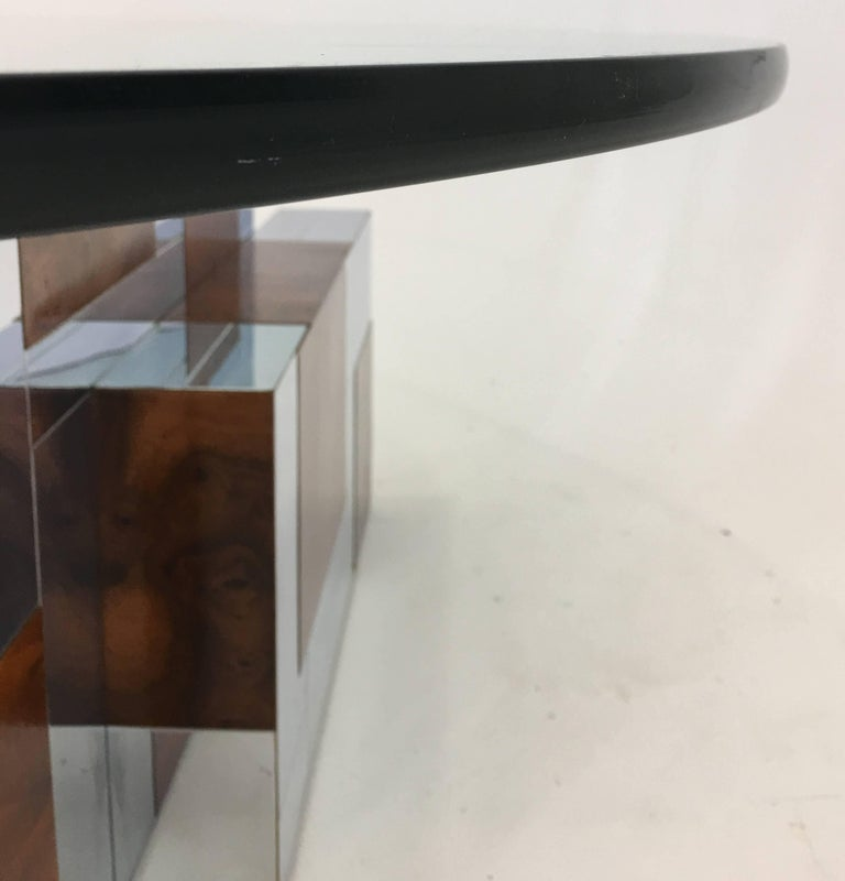 Glass Coffee Table by Paul Evans PE 400 Series for Directional For Sale
