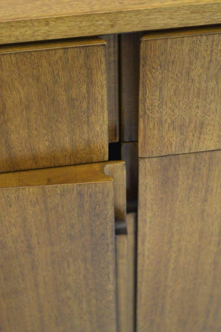 Fine Two-Part Cabinet by Bert England for Johnson Furniture Forward Trend For Sale 1