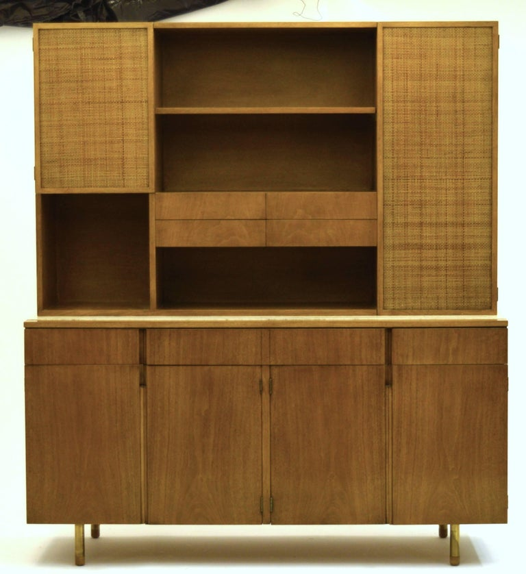 Mid-Century Modern Fine Two-Part Cabinet by Bert England for Johnson Furniture Forward Trend For Sale