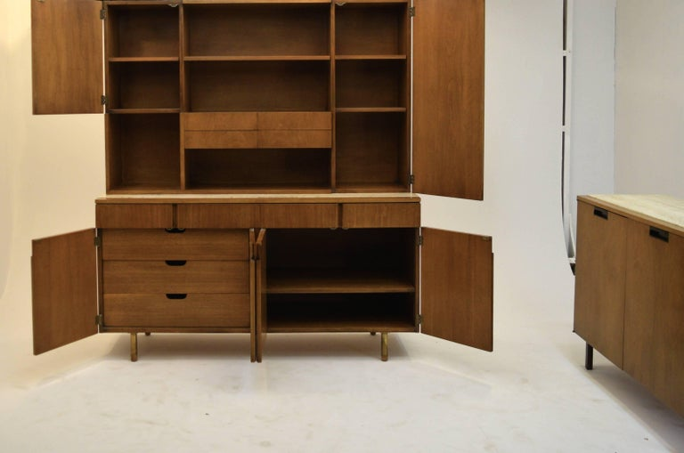 Mid-20th Century Fine Two-Part Cabinet by Bert England for Johnson Furniture Forward Trend For Sale