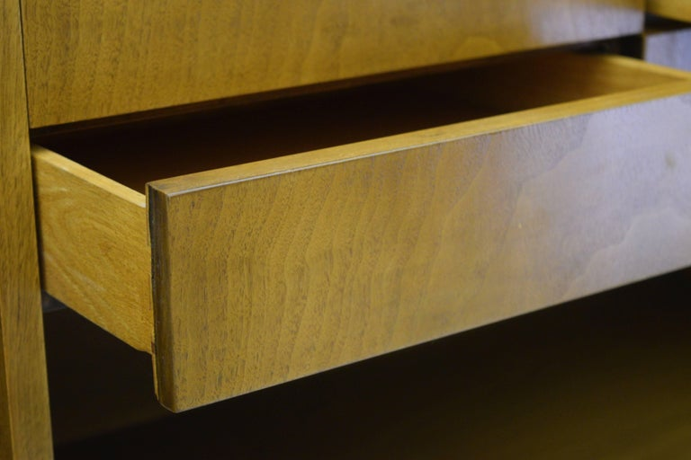 Fine Two-Part Cabinet by Bert England for Johnson Furniture Forward Trend For Sale 2