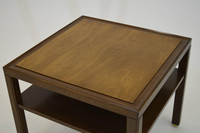 American Fine Two-Tone Occasional or End Table by Dunbar in Walnut For Sale