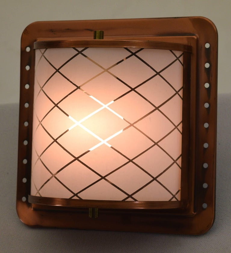 Half Lantern Style Copper Wall Sconce by Moe Light For Sale at 1stdibs