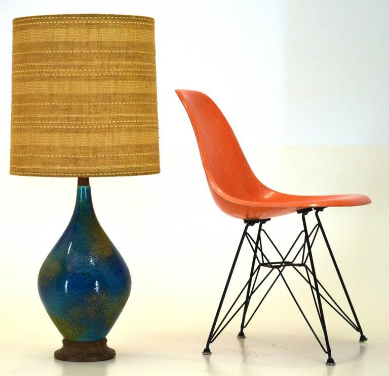 Haeger Pottery, Designer Helmut Bruchman California, USA, circa 1960 Ceramic lamp Measures: 38