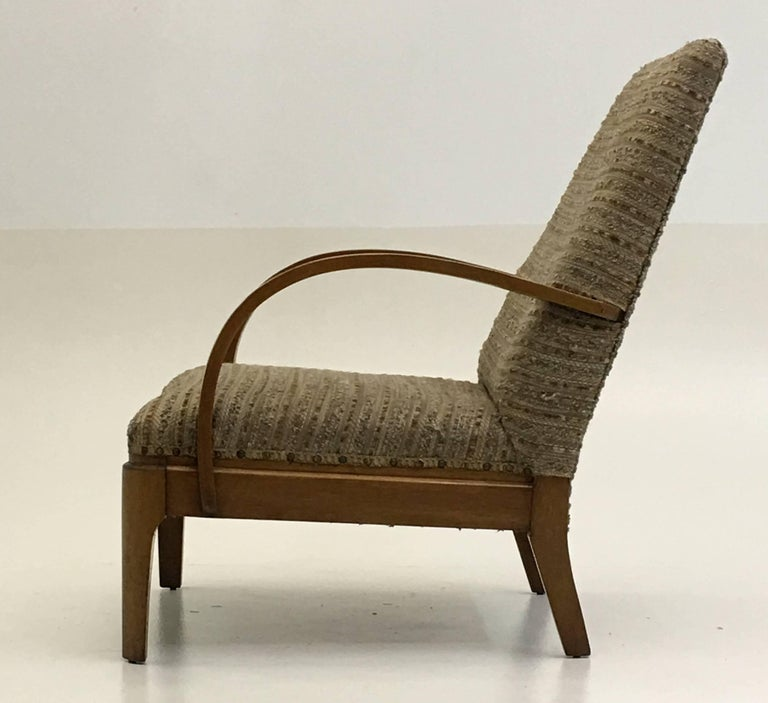 Art Deco Lounge Chair In Excellent Condition For Sale In South Charleston, WV