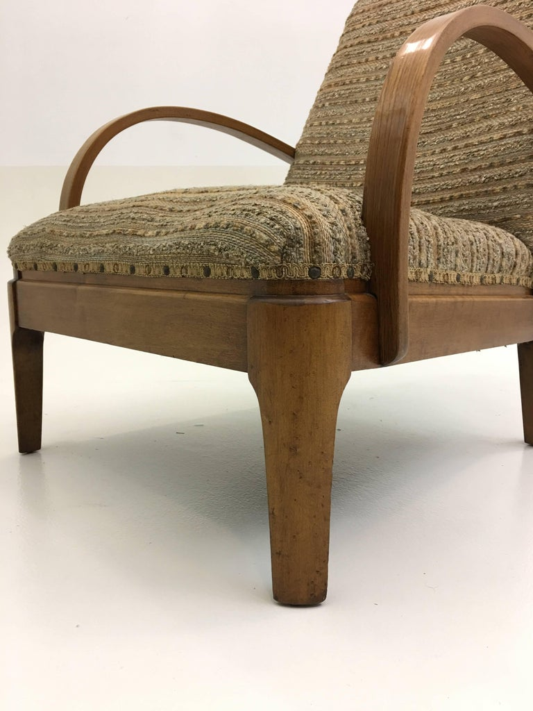 20th Century Art Deco Lounge Chair For Sale