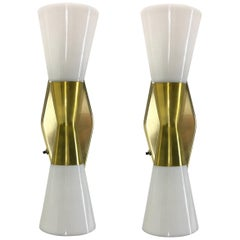 Vintage Brass Bow Tie Sconces by Virden Lighting Pair