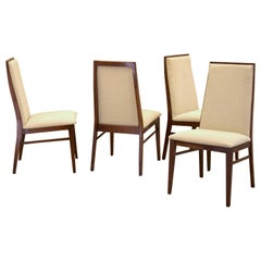 Set of Four Merton L. Gershun Walnut Dining Chairs