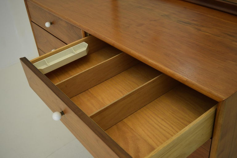 Mid-20th Century Dresser Suite and Mirror by Kipp Stewart for Drexel in Walnut For Sale