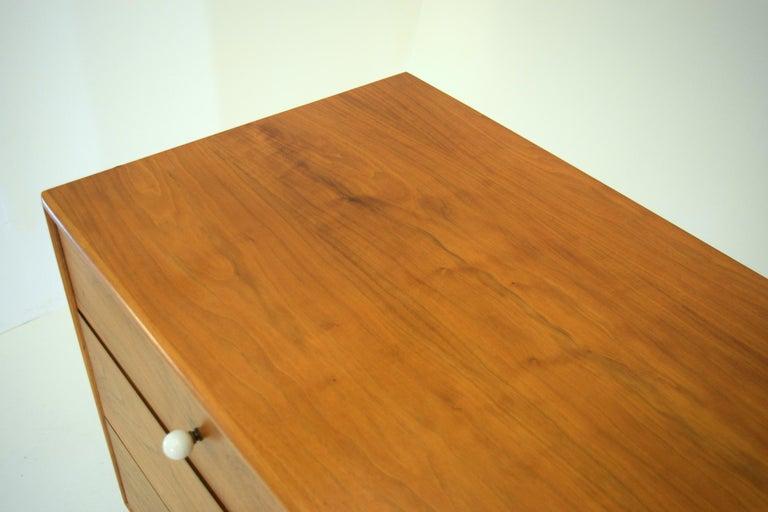 Dresser Suite and Mirror by Kipp Stewart for Drexel in Walnut For Sale 1