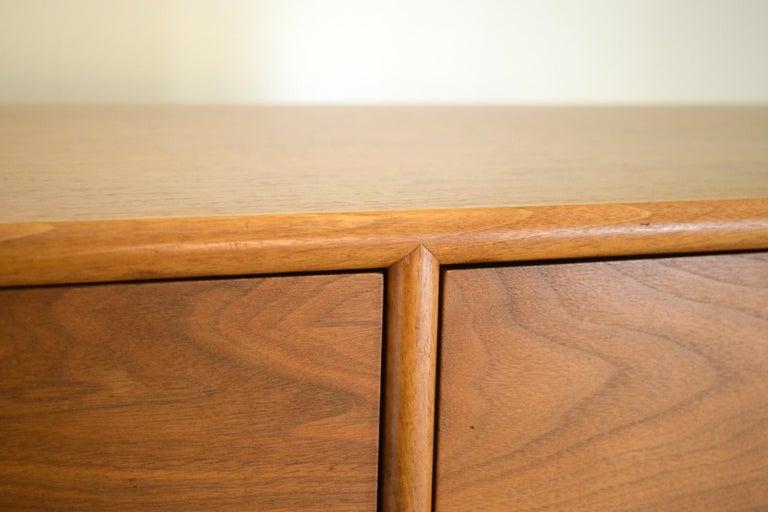 Dresser Suite and Mirror by Kipp Stewart for Drexel in Walnut For Sale 5