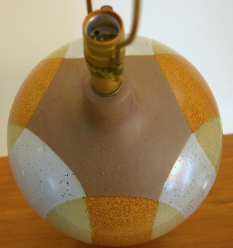 20th Century Large David Cressey Table Lamp in Cast Stoneware with Dipped Glaze For Sale