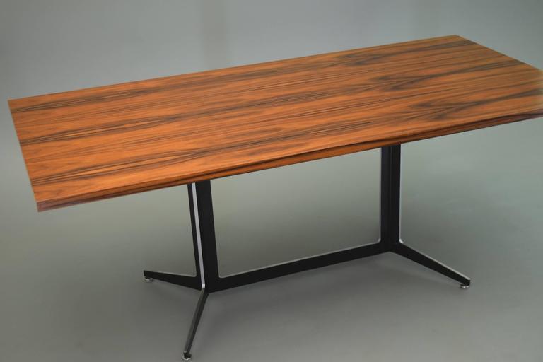 Sleek Elegant Modernist Table Desk By Ward Bennett For Lehigh Furniture.  Versatile, It Can