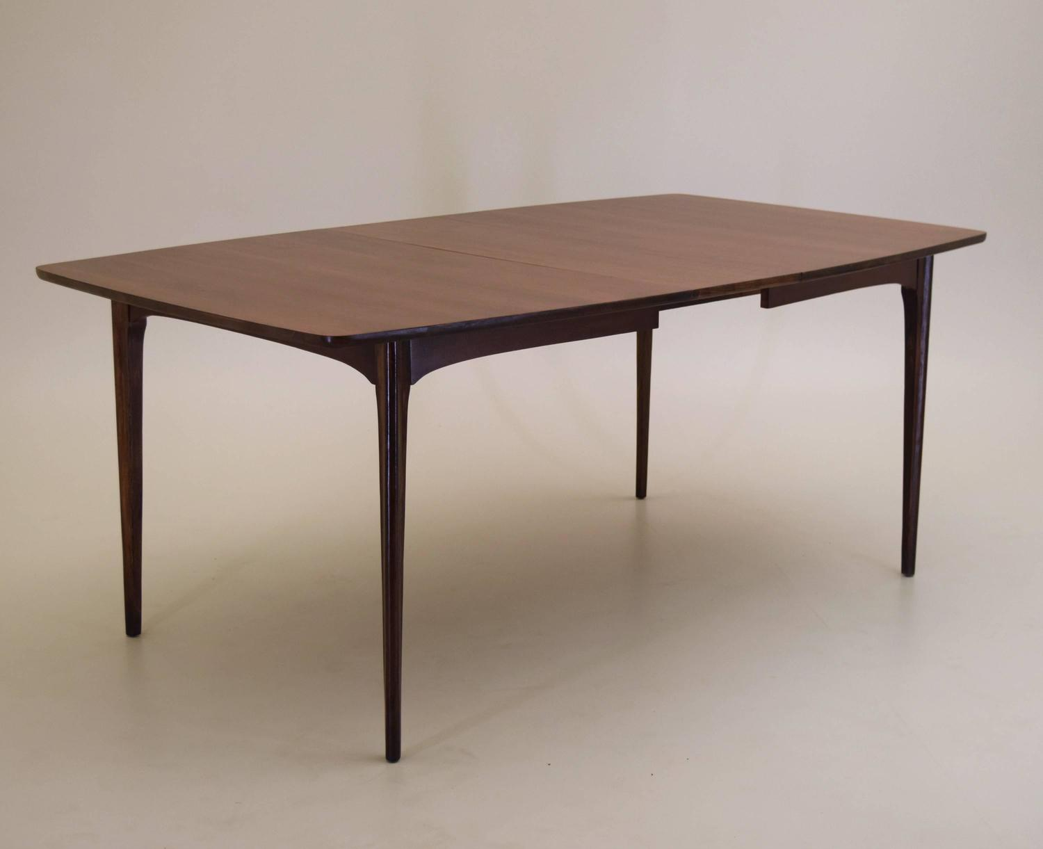 walnut dining table with extension leaf at 1stdibs