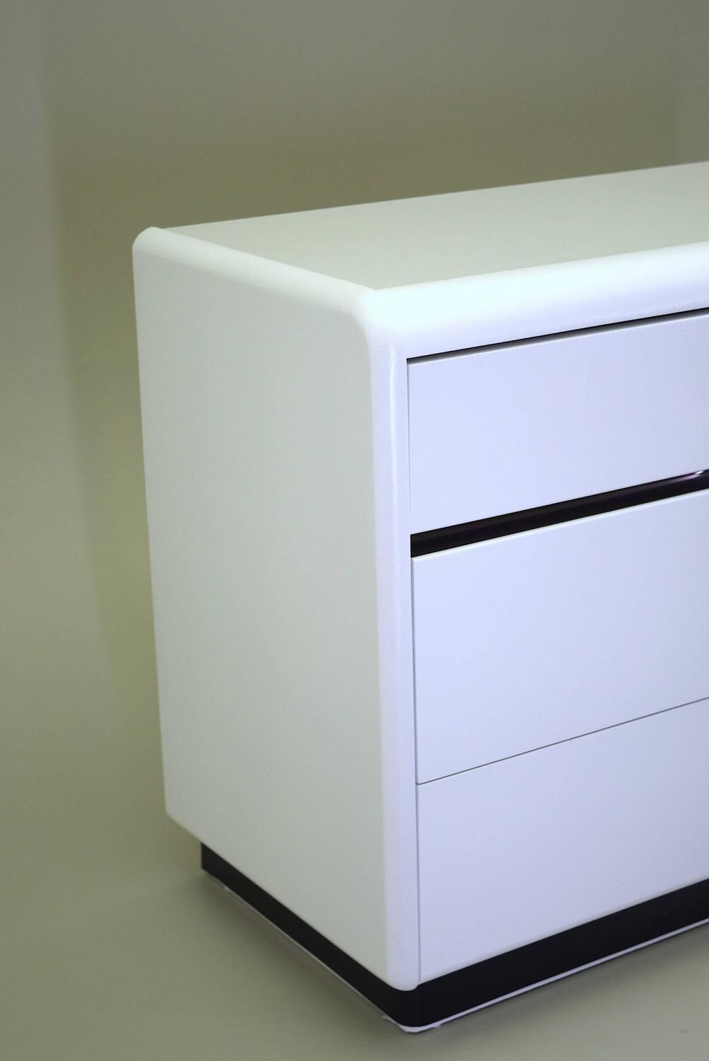 Modern white lacquered dresser and nightstand by lane at for Contemporary dressers and nightstands