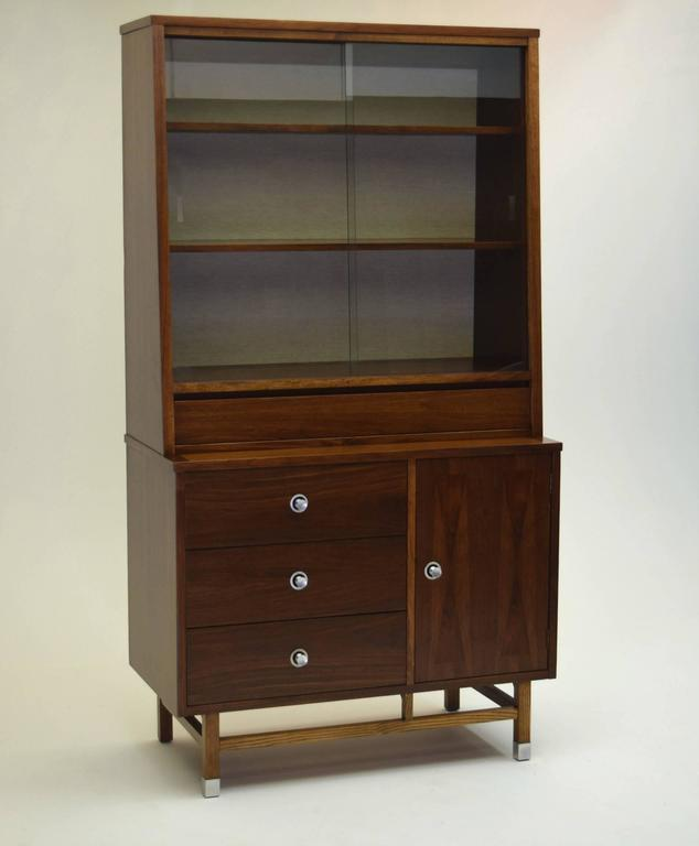 Mid-Century Modern Nine Piece Dining Suite Includes China Cabinet, Stanley Furniture Finnline