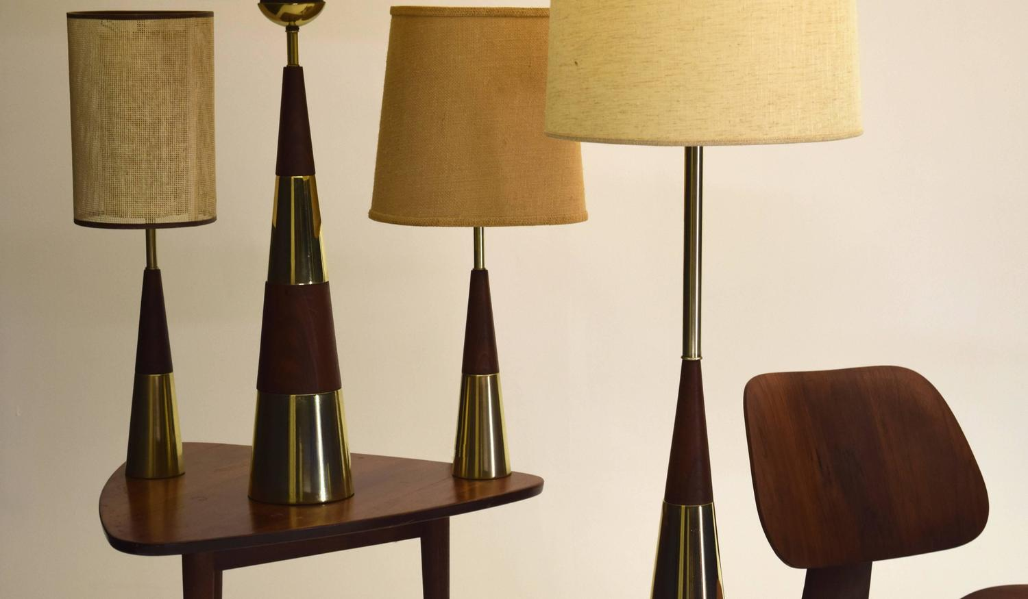 floor and table lamp set by tony paul for westwood at 1stdibs. Black Bedroom Furniture Sets. Home Design Ideas