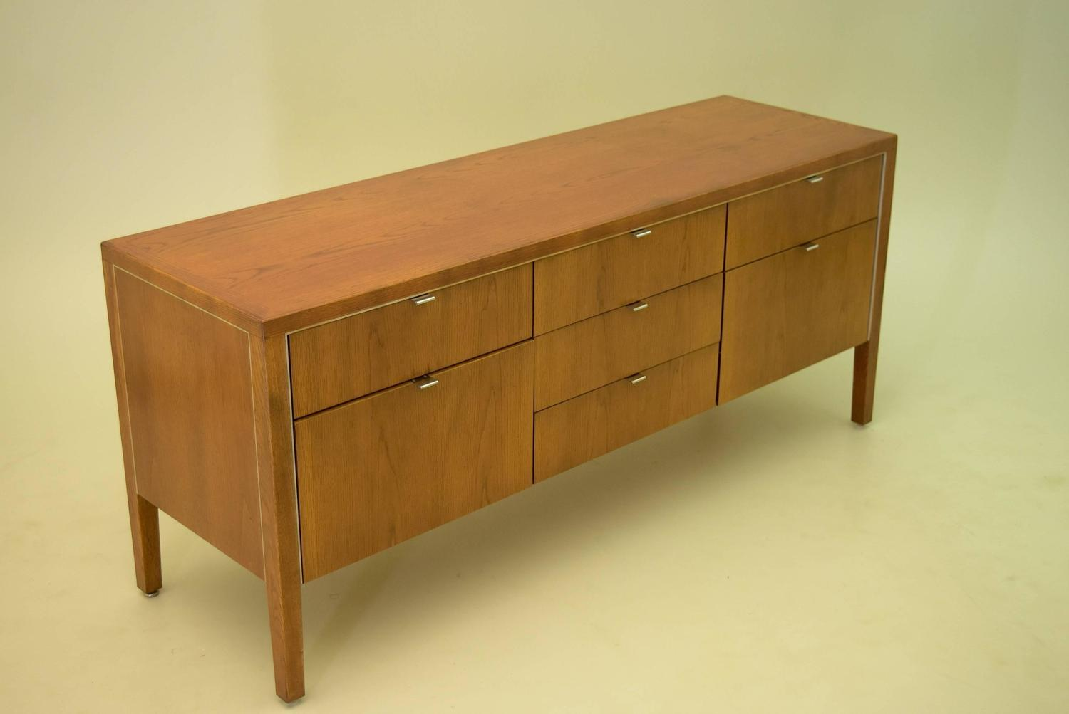 Wonderful image of Oak Credenza by Domore Stow Davis for Ashland Oil For Sale at 1stdibs with #4C2808 color and 1500x1003 pixels