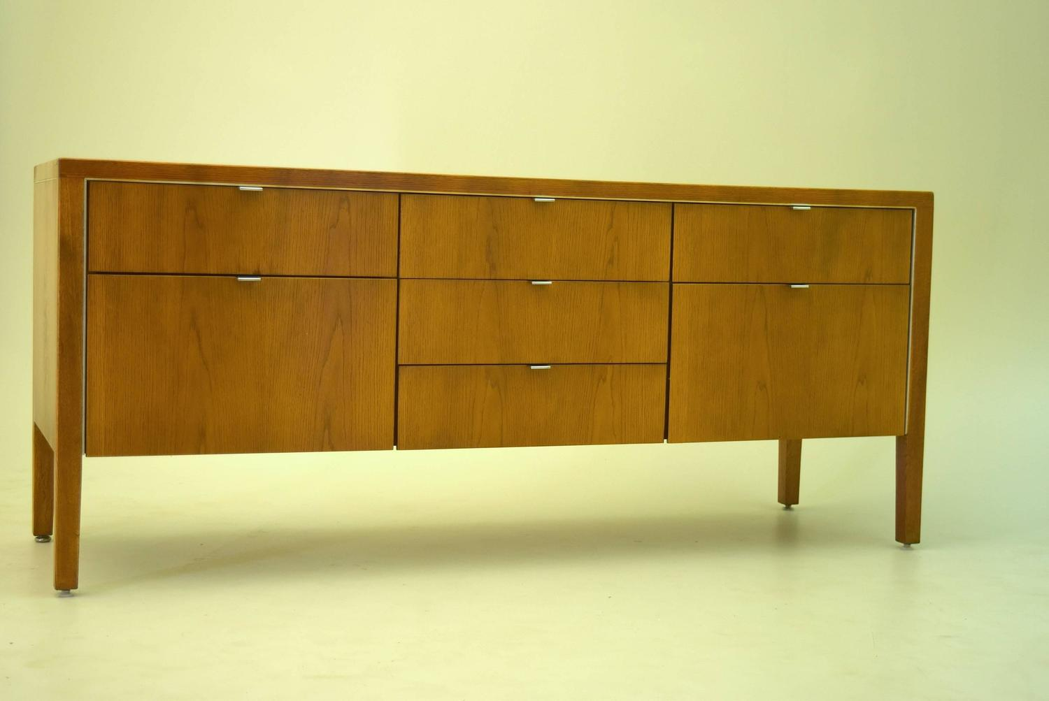 Oak Credenza By Domore Stow Davis For Ashland Oil