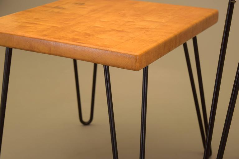 Maple Tables By P.W. Davis PAIR 1956 17.5
