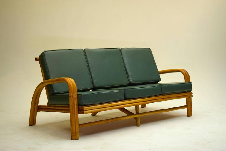 Eight piece vintage rattan suite for sale at 1stdibs - Rattan living room furniture for sale ...
