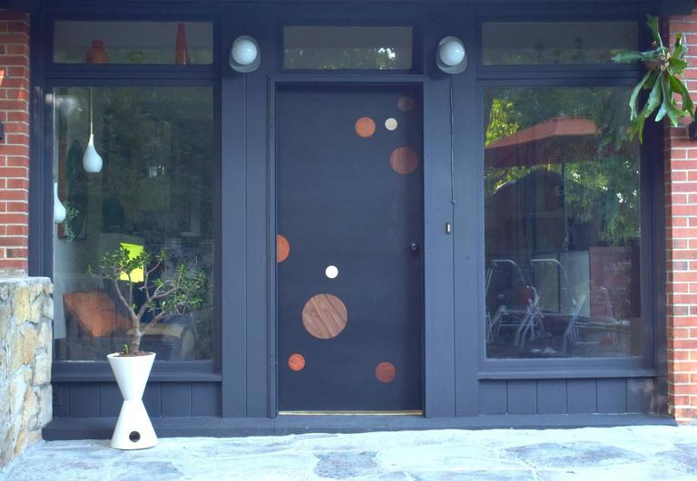 Ray Burst Single Entry Door With Radial Walnut For Sale At 1stdibs