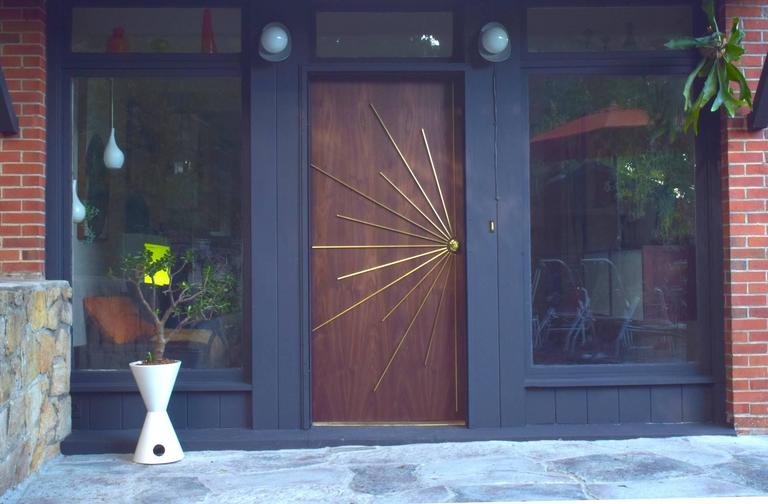 Mid-Century Modern Ray Double Entry Door built to customer specifications For Sale