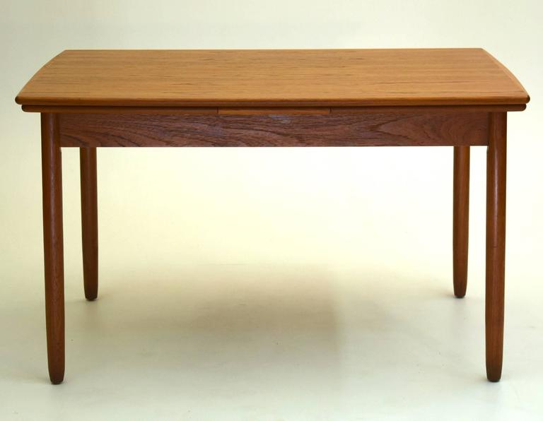 Danish Teak Dining Table With Extension