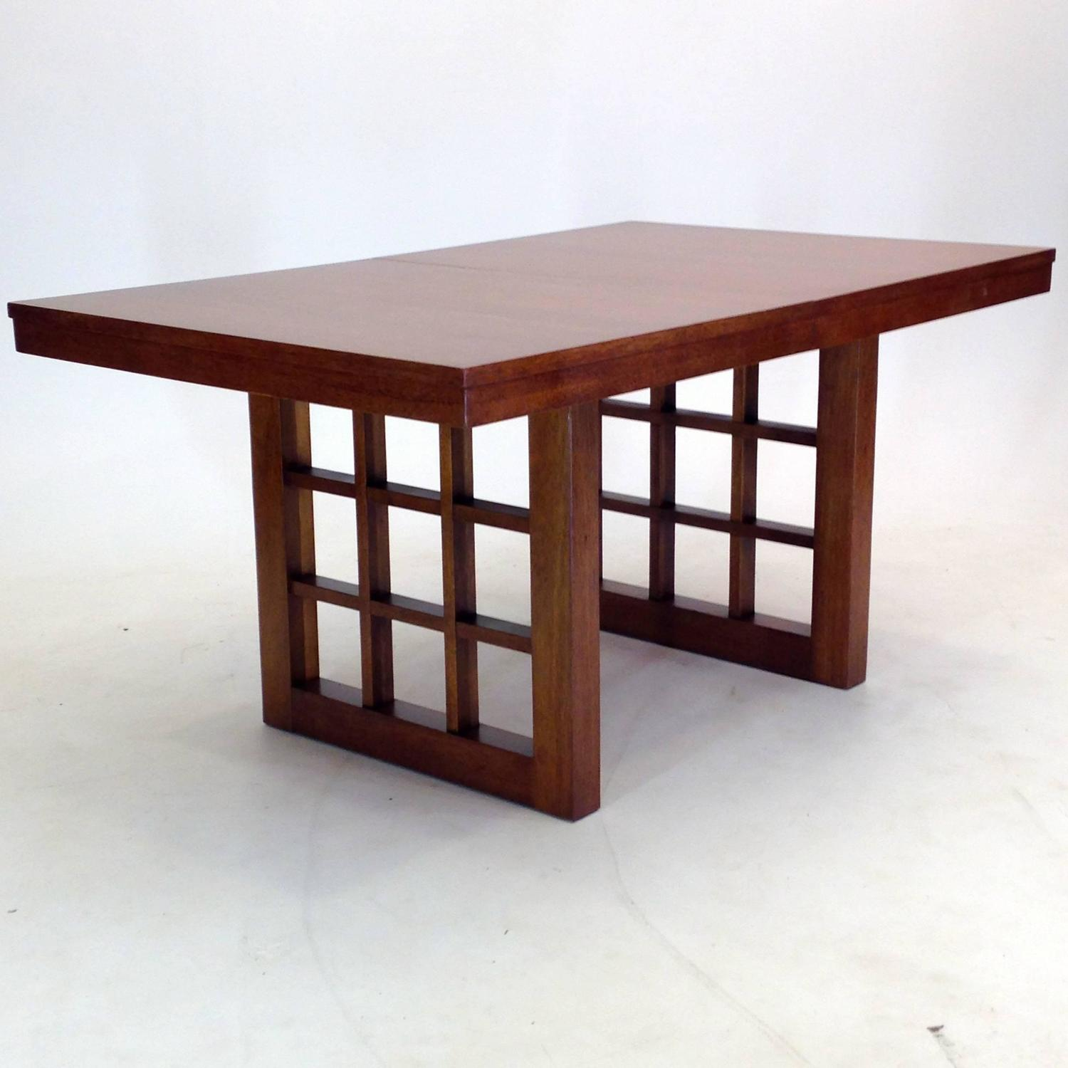 Exquisite eight foot dining table by merton l gurshun in for 7 foot dining room table