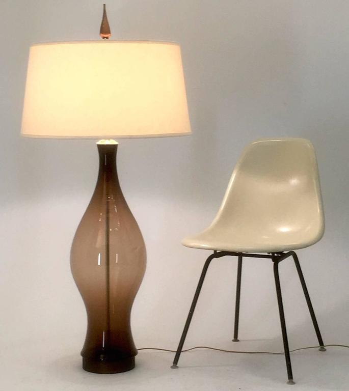 Monumental Blenko Lamp in Chestnut, 1965 2