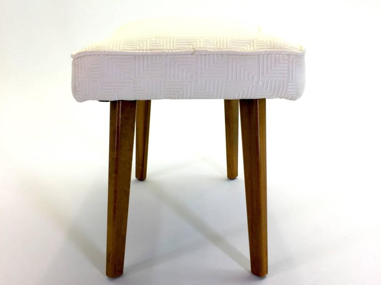 Newly Upholstered Bench Stool By George Nelson For Herman