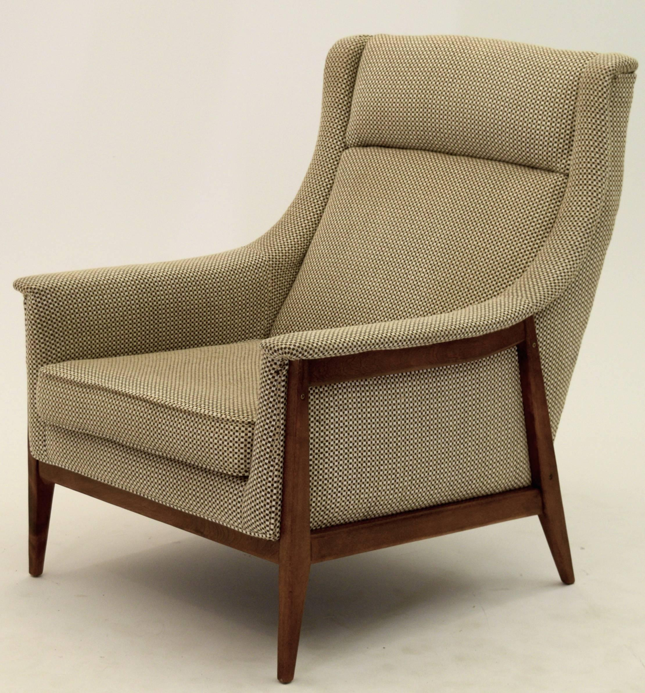 exquisite armchair and ottoman by selig in original cotton felt 2