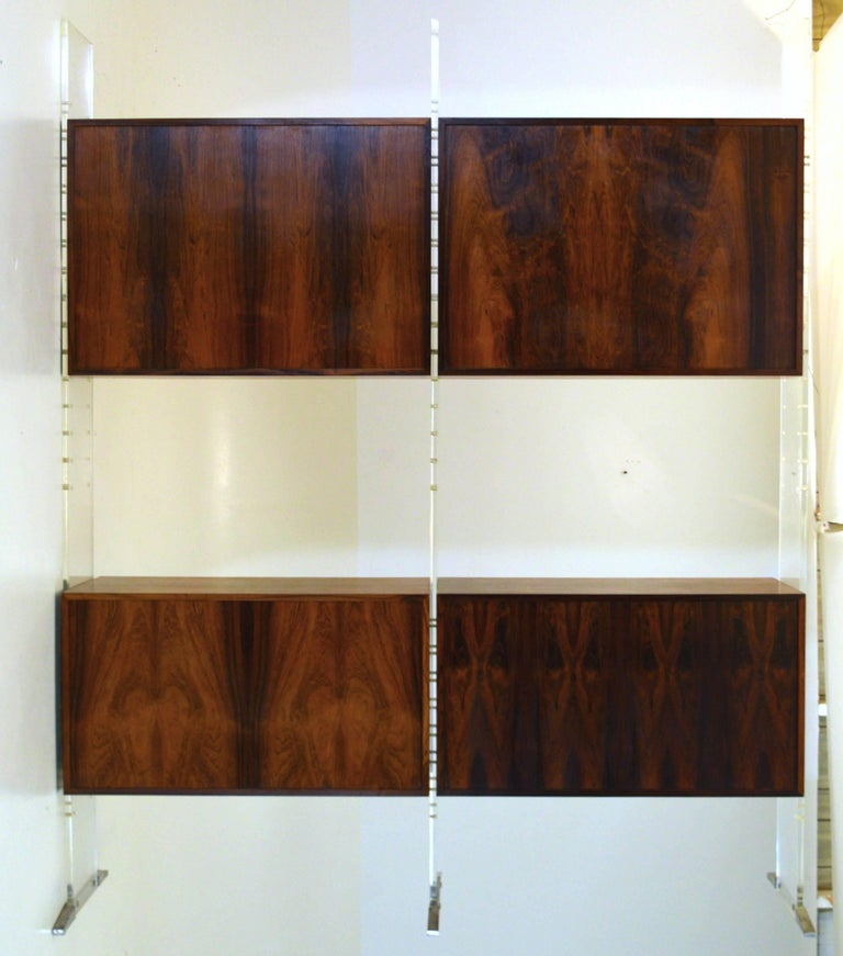 Room Divider and Storage Cabinet System by Poul Nørreklit, Denmark In Excellent Condition For Sale In South Charleston, WV