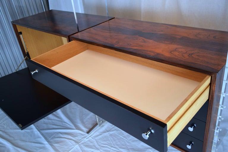 Rosewood Room Divider and Storage Cabinet System by Poul Nørreklit, Denmark For Sale