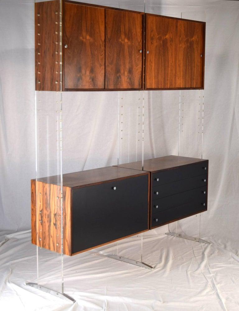 Mid-Century Modern Room Divider and Storage Cabinet System by Poul Nørreklit, Denmark For Sale