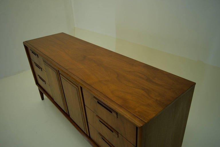 Mid-Century Modern American Walnut Credenza For Sale